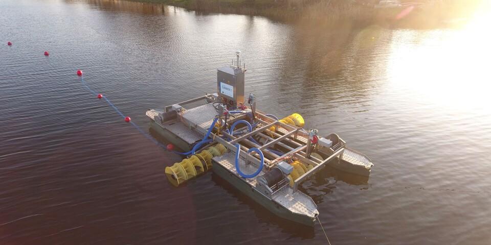 """""""Testområdena kommer dock att flyttas under projektets gång, vilket kommer att påverka var farleden kommer att vara avstängd"""", skriver projektledaren för Life Sure i Malmfjärden i Kalmar."""