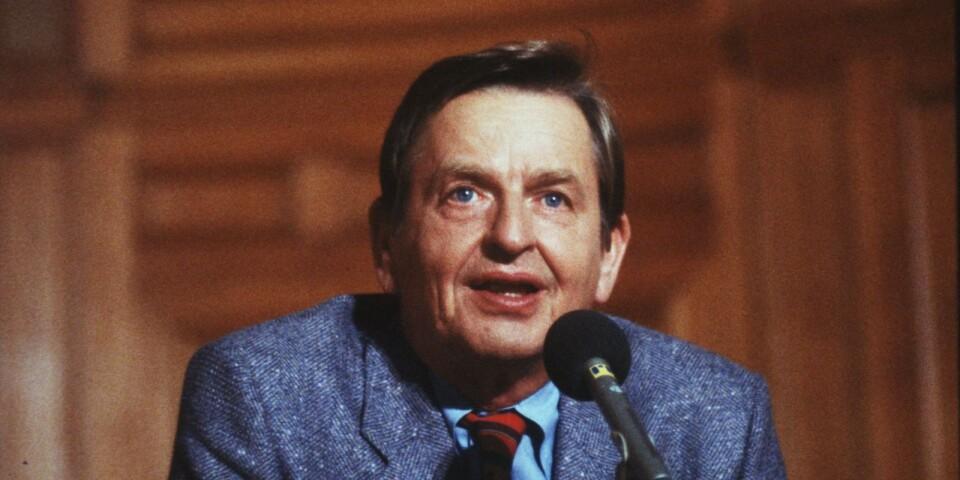 """""""Ty politik – kamrater – det är att vilja något"""", sa Palme 1964."""