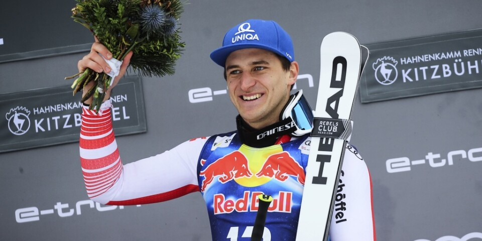 Matthias Mayer vann störtloppet i Kitzbühel.