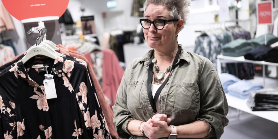 Nina Månsson som jobbar på den danska butikskedjan Zizzi i köpcentrat Emporia i Hyllie i Malmö.