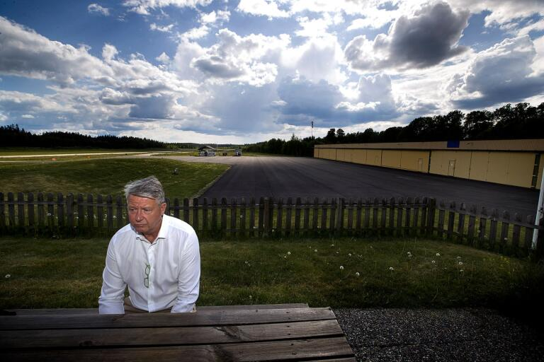 Craig Tivendale, ordförande för Borås ultralätt flygklubb.