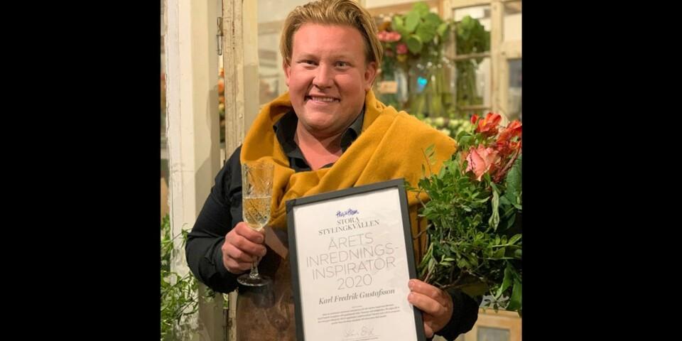Karl Fredrik Gustafsson har av Hus & Hem utsetts till Årets inredningsinspiratör. Priset delades ut under det digitala eventet Stora Stylingkvällen.