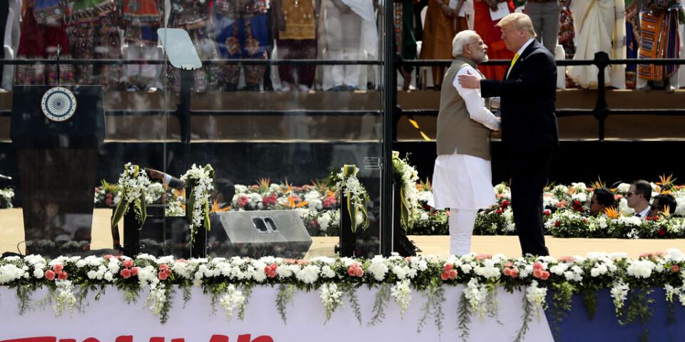 Indiens premiärminister Narendra Modi och USA:s president Donald Trump.