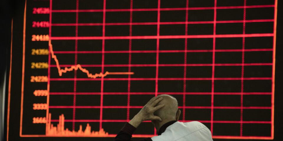 Hang Seng-index i Hongkong sjönk 0,5 procent i måndagens tidiga handel. Arkivbild.