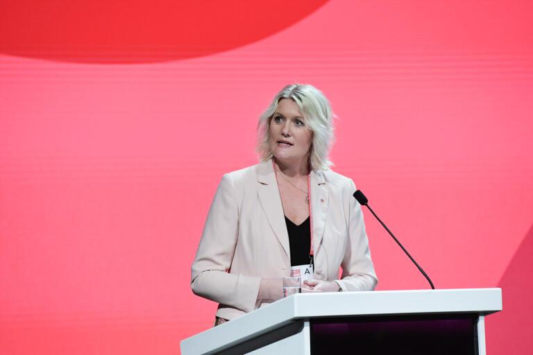 Socialdemokraternas partisekreterare Lena Rådström Baastad vill att Almedalsveckan förkortas. Arkivbild.