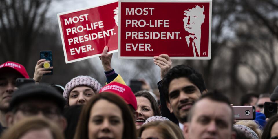 """Presidenten som är mest """"pro-life"""" och emot abort av dem alla, enligt honom själv och anhängare."""