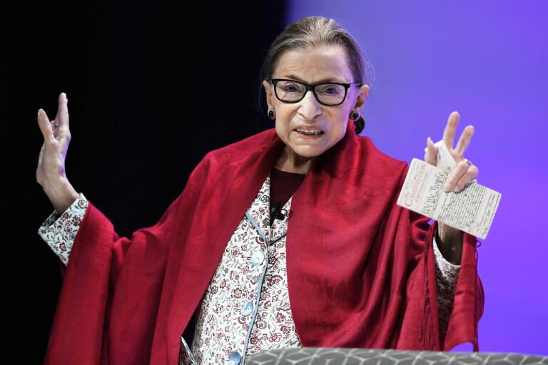 Ruth Bader Ginsburg i oktober i fjol.