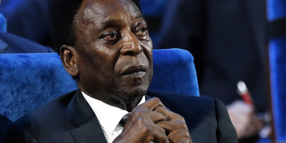 Pelé avdramatiserar uppgifter om sin vacklande hälsa. Arkivbild.