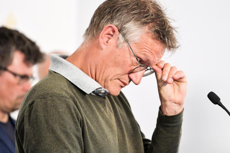 Anders Tegnell, statsepidemiolog Folkhälsomyndigheten, under den dagliga myndighetsgemensamma pressträffen om covid-19.