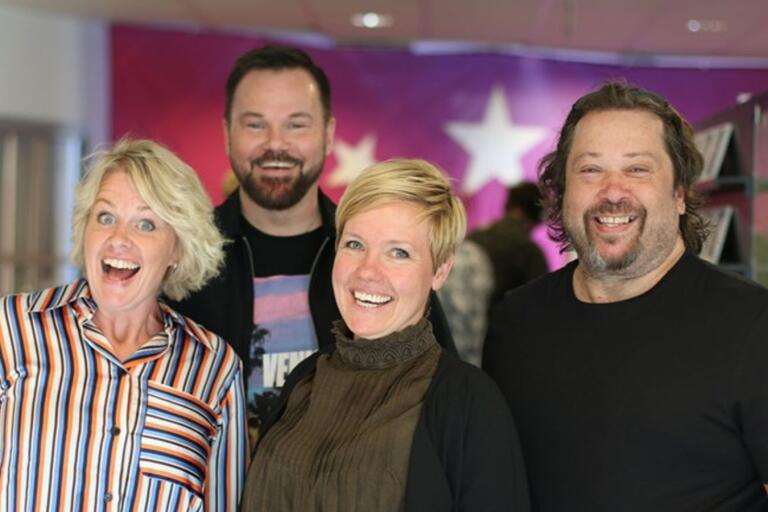 Lisa Blixt, Johan Mauritzson, Linnéa Jonasson och Thomas Karlsson.