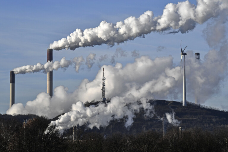 Ett kolkraftverk i tyska Gelsenkirchen. Arkivbild.