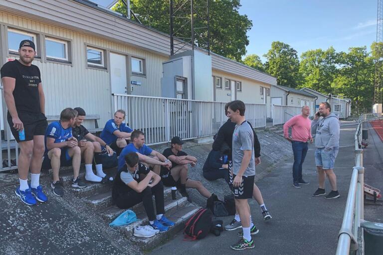 Nya IFK Karlskrona samlade till säsongens första försäsongsträning på Västra Mark.