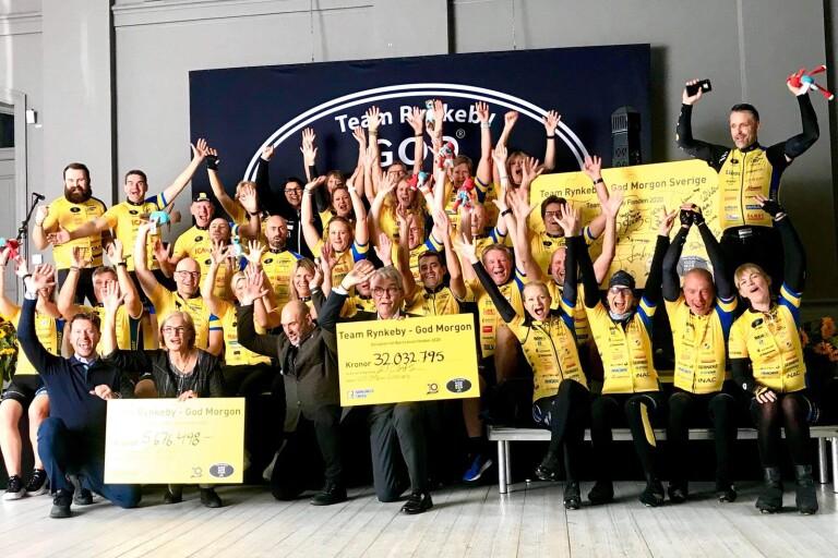Team Rynkeby skänker 37,7 miljoner till sjuka barn
