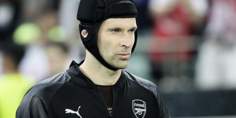 Petr Cech har nu uppfyllt sin barndomsdröm och, som vuxen, spelat en hockeymatch. Arkivbild.