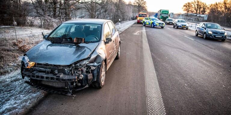 Trafikolycka på E22 en förare lämnade platsen SSD