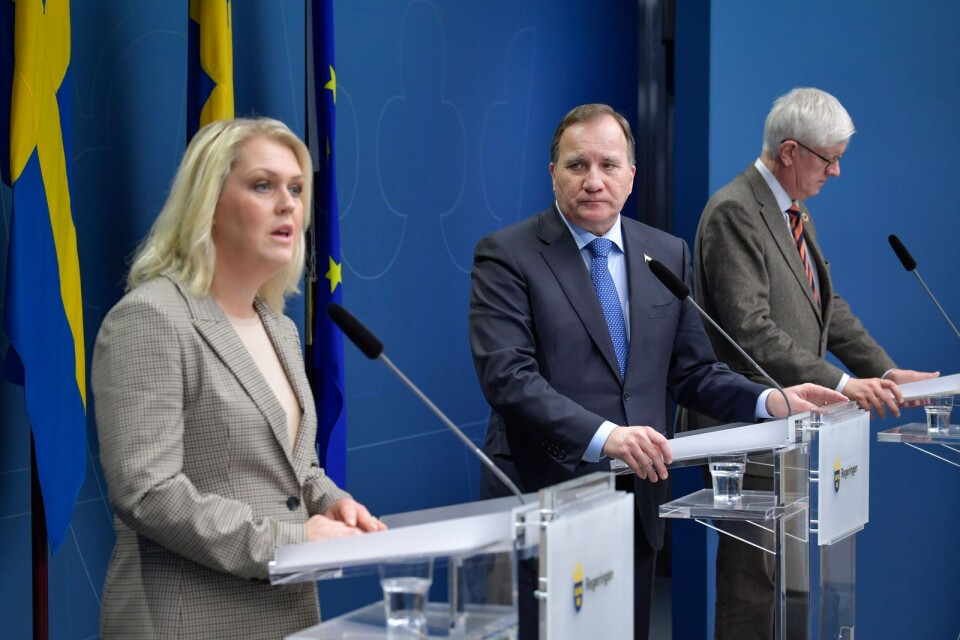 """""""We need rules that last over the winter,"""" said Minister for Health and Social Affairs Lena Hallengren (S), Prime Minister Stefan Löfven (S) and Folkhälsomyndighetens Director-General Johan Carlson at a press conference on Tuesday."""