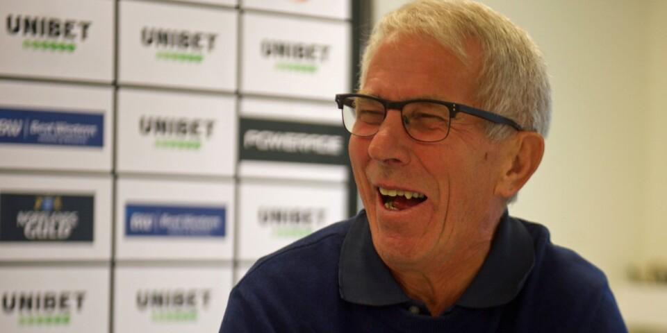 """Bengt-Göran """"Mysing"""" Karlsson förklarar sitt något annorlunda smeknamn: """"Det har hängt med sedan en prisutdelning hemma i Hovmantorp vid någon friidrottstävling. Jag blev väl lite för glad"""", säger han och skrattar."""