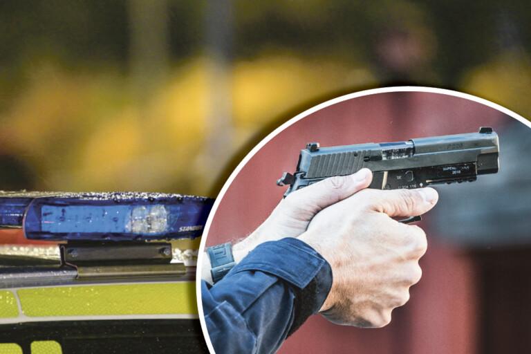 Trelleborg: Polis sköt varningsskott under gripande