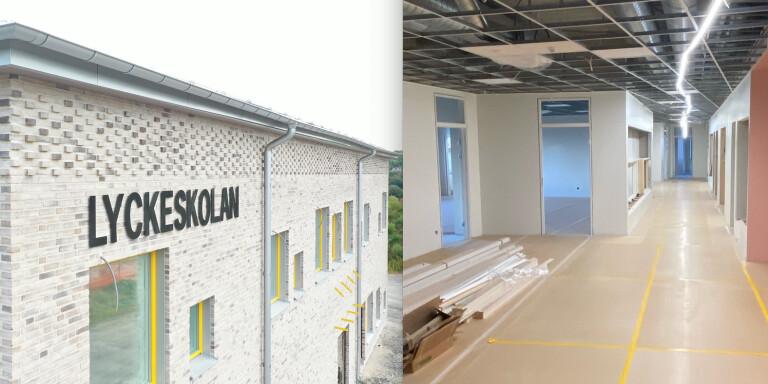 Bildextra: Så ser det ut inne i nya Lyckeskolan