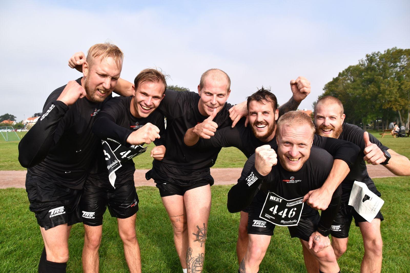 Team Byggbolaget visade mod och kampvilja under tävlingen.