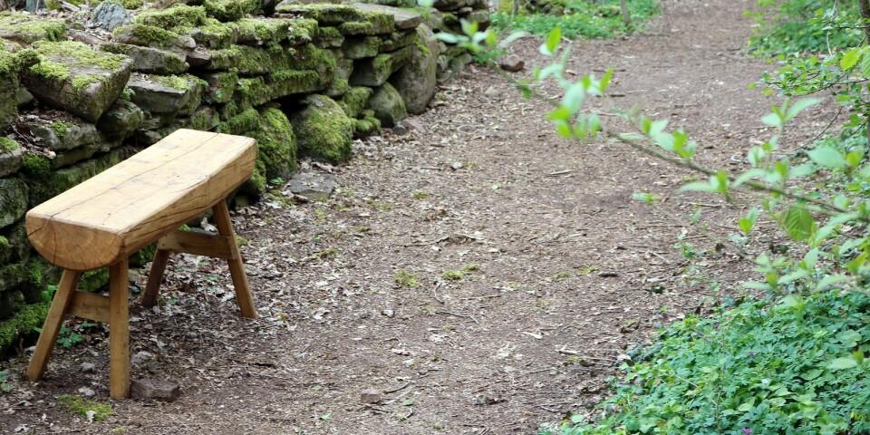 Nedanför Grottbranten finns det ännu möjlighet att vila sina ben.