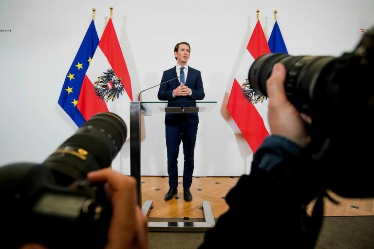Österrikes förbundskansler Sebastian Kurz tvingades utlysa nyval.