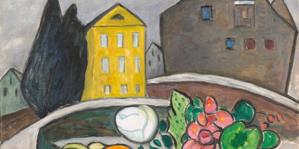"""Gabriele Münter: """"Stilleben vor dem gelben Haus"""" (1953)"""