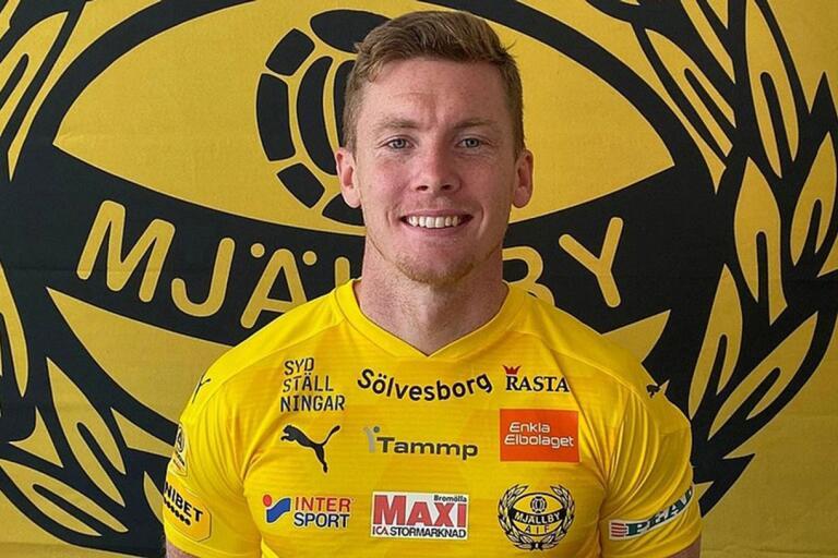 Viktor Agardius är klar för spel i Mjällby AIF.