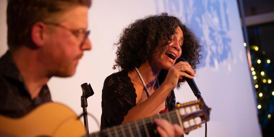 Mats Andersson och Miriam Aïda bjöd på två olika låtar under kvällen.