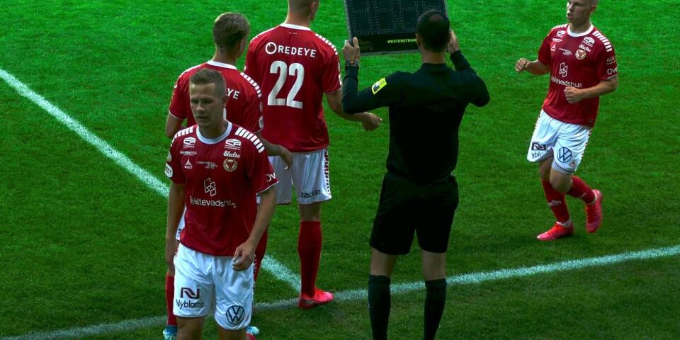 Erik Israelsson har hittills fått 152 minuters speltid i sin KFF-comeback.