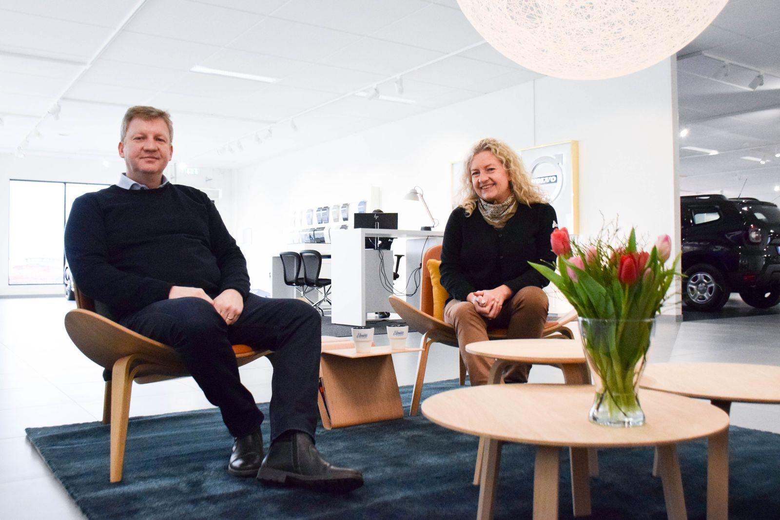 """""""Nu ser vi fram emot att såväl gamla som nya kunder ska hitta hit!"""" konstaterar ägarduon Olov och Gisela Bengtsson."""