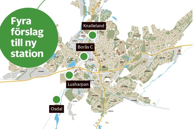 Här kan nya stationen hamna – fyra alternativ återstår