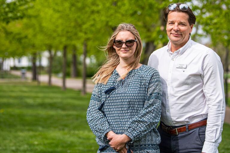 Fanny Holgersson, optikerassistent på Swan Optik.