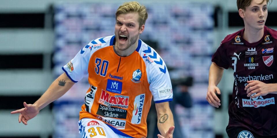 Anton Halén gjorde nio mål mot Lugi.