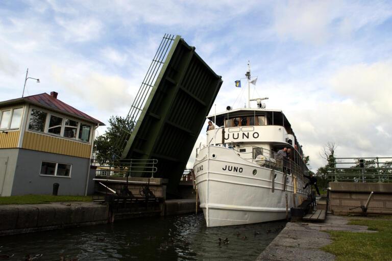 M/S Juno är ett av rederiet Göta kanal AB:s kanalbåtar. Arkivbild.