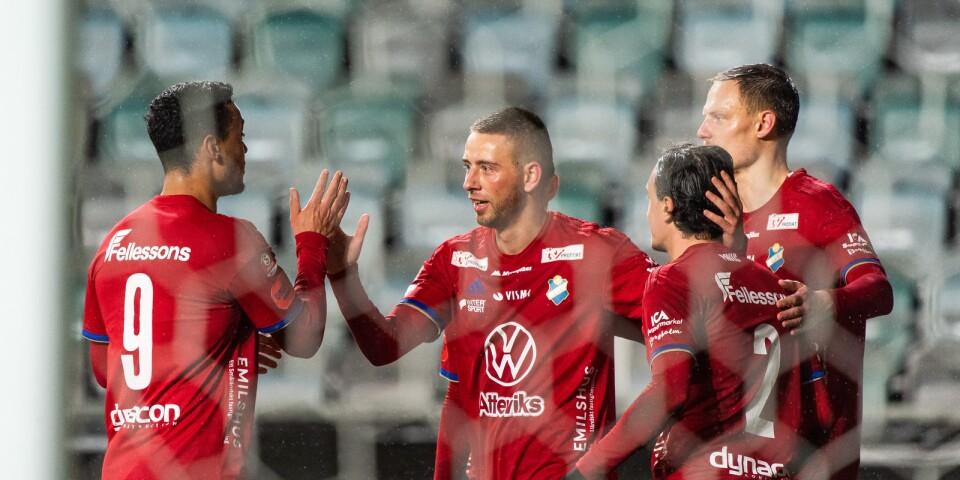 Petar Petrovic jublar efter 0-1.