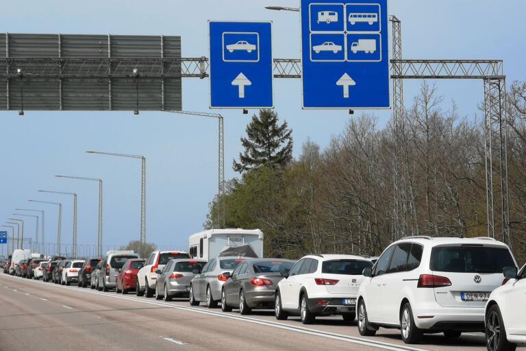 Olyckan på Öland orsakade långa köer till Kalmar.