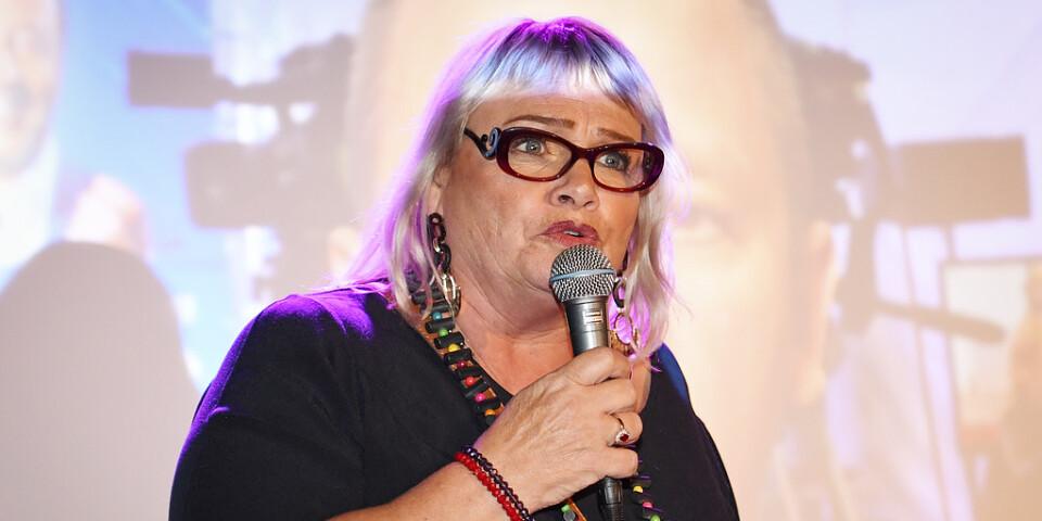EU-parlamentsledamoten Soraya Post under Feministiskt initiativs (Fi) valvaka på Scandic Malmen under valet till Europaparlamentet.