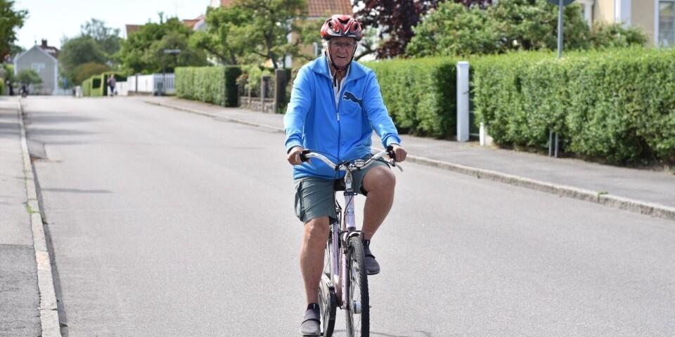 Eric Söderberg, 86 år, kan alla Kalmars gator sedan han under ett år bestämde sig för att just cykla på stadens ALLA gator.