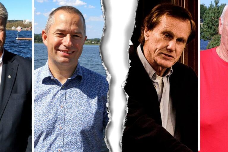 Roland Karlsson (C) och Mikael Levander (NU) går vidare på egen hand sedan Arne Fransson (MP) och Jan-Olof Sundh (V) har meddelat att deras partier lämnar det valtekniska samarbetet.
