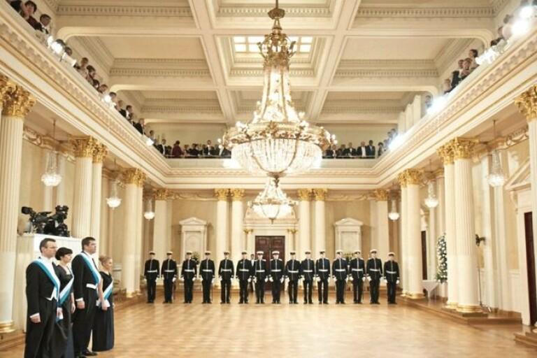 Slottsbalen i Helsingfors på onsdagskvällen blir grand finale på 100-årsfirandet. Foto:Yle.