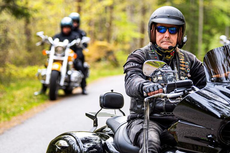 Ulf Nelsén, ordförande i Blekinges motorcyklister, BMC, som har 153 medlemmar.