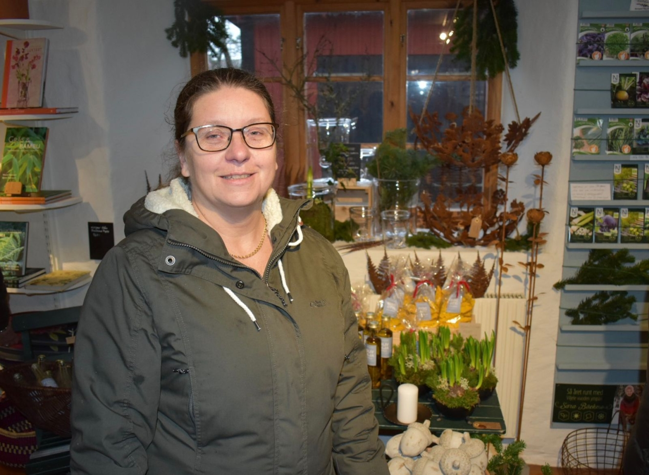 Lotta Mattisson från Kristianstad besökte sin sons flickvän som går på skolan i Vickleby.