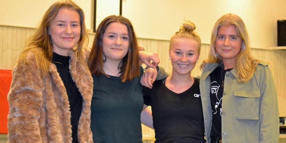 Selma Willman, Sara Susic, Alma Gustavsson och Cajsa Södergren har växt upp i föreningen och ingår i ungdomsstyrelsen.