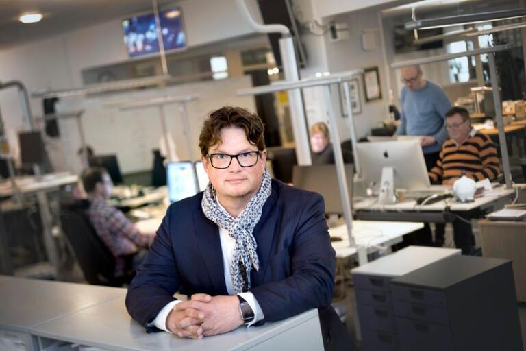 """""""Det är bara att beklaga. I ett tryckeri kan mycket gå fel, och i natt gick väldigt mycket fel"""", säger Kristianstadsbladets chefredaktör Jörgen Svensson."""
