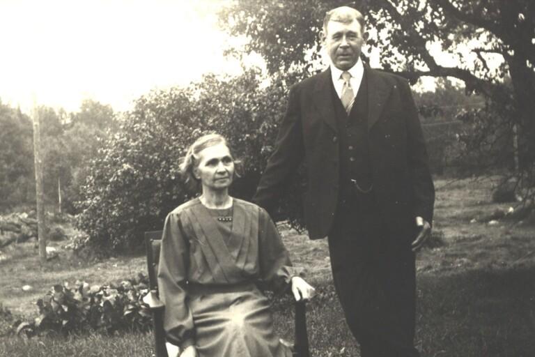 Vendla (1885-1977) och Gustav Olofsson (1882-1962).