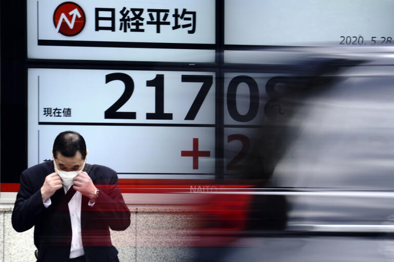Japans Nikkei|225-index fortsätter upp. Arkivbild.