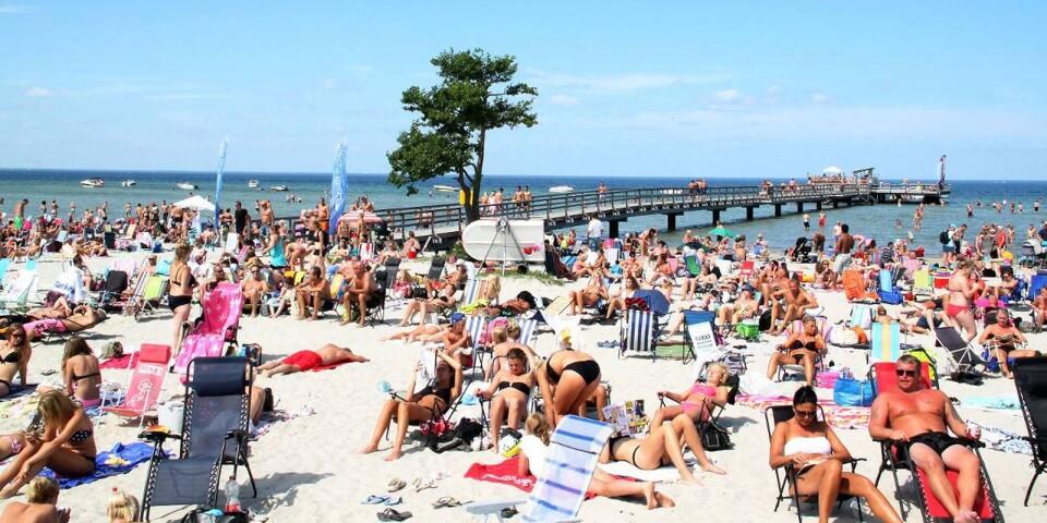 Nej, så här mycket turister var det inte på Öland. Även om chefredaktör Boström med flera tycker att det varit många på ön i sommar.