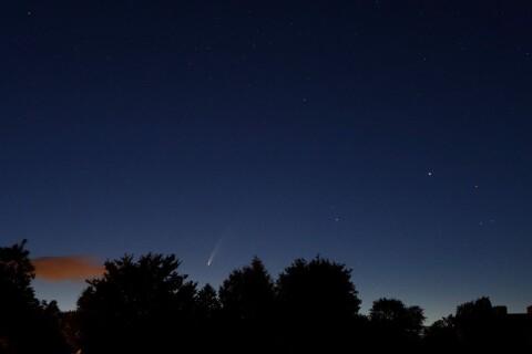 Kometen Neowise visade sig på Ystadshimlen