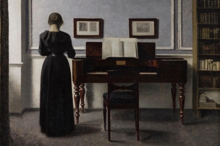 "Vilhelm Hammershøi: ""Interiör"", 1901. Ordrupgaard."